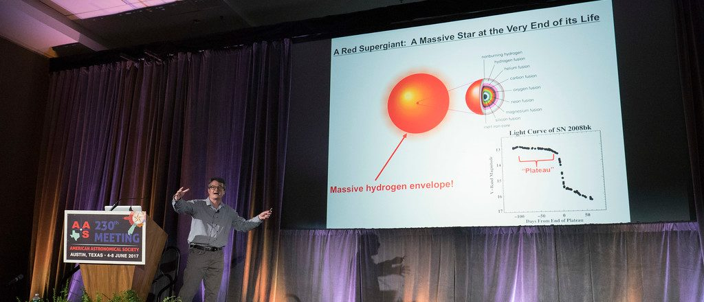SDSU astronomy professor Doug Leonard presents invited plenary lecture at the 230th meeting of the American Astronomical Society