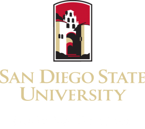 San Diego State University Leadership Starts Here logo