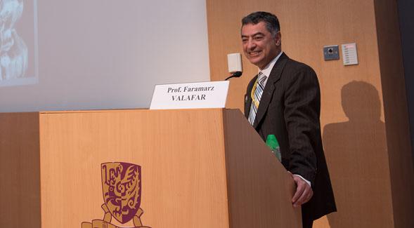 Faramarz Valafar at podium